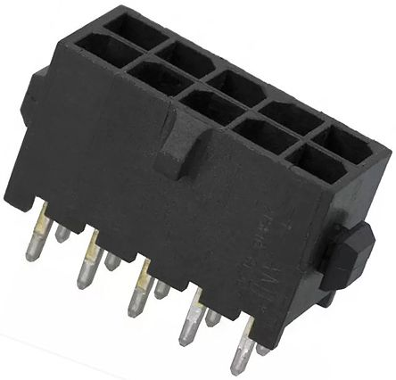 TE Connectivity , Micro MATE-N-LOK, 10 Way, Straight PCB Header (10)