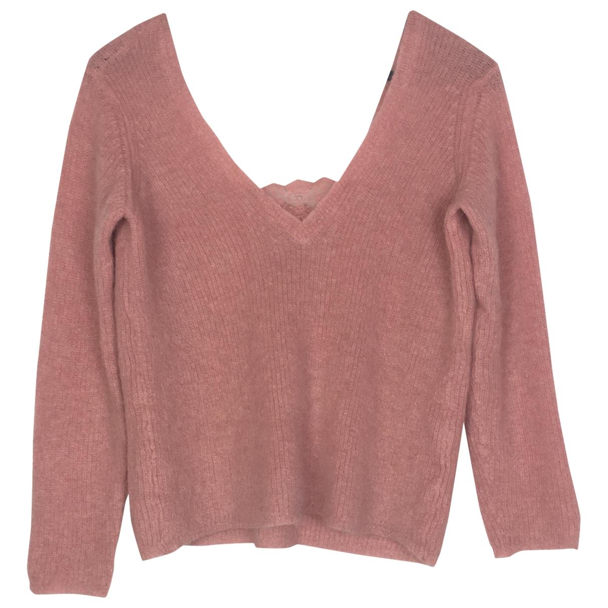 Sezane - Pull   pour femme en laine - rose