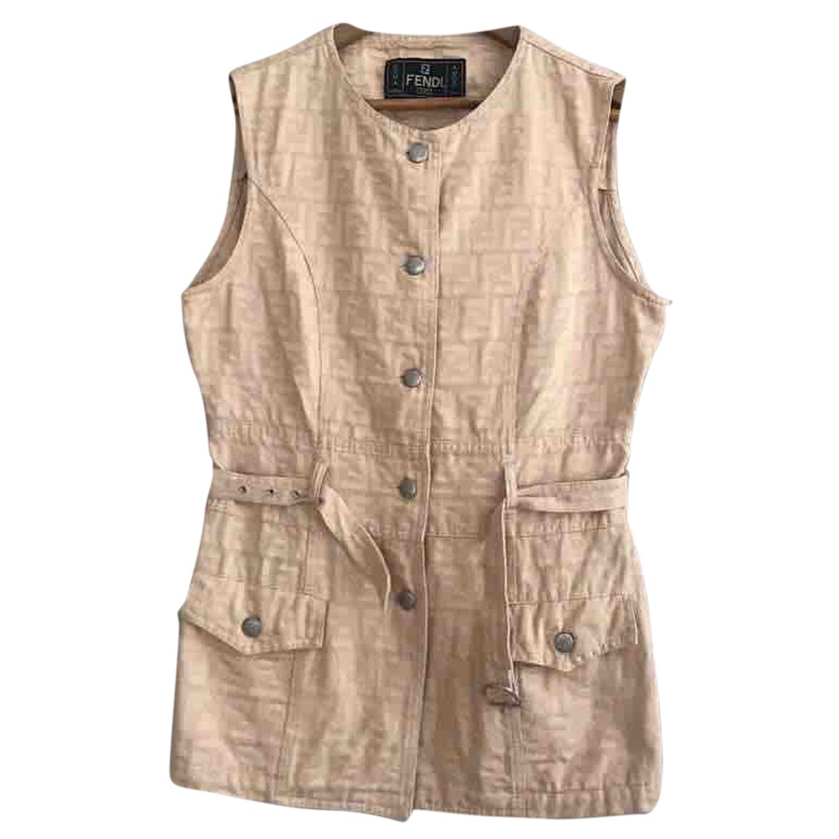 Fendi - Veste   pour femme en coton - beige