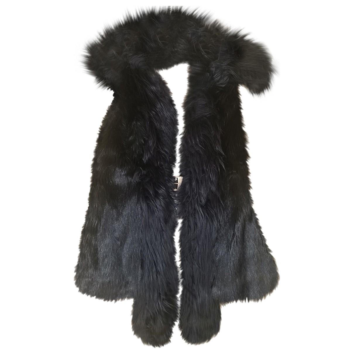 Versace X H&m - Veste   pour femme en fourrure synthetique - noir