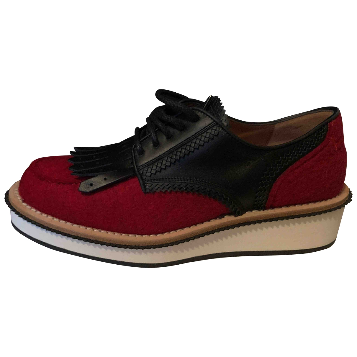 Givenchy \N Red Tweed Lace ups for Women 38 EU