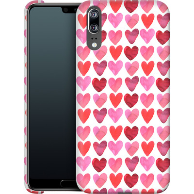 Huawei P20 Smartphone Huelle - Heart Watercolour von Amy Sia