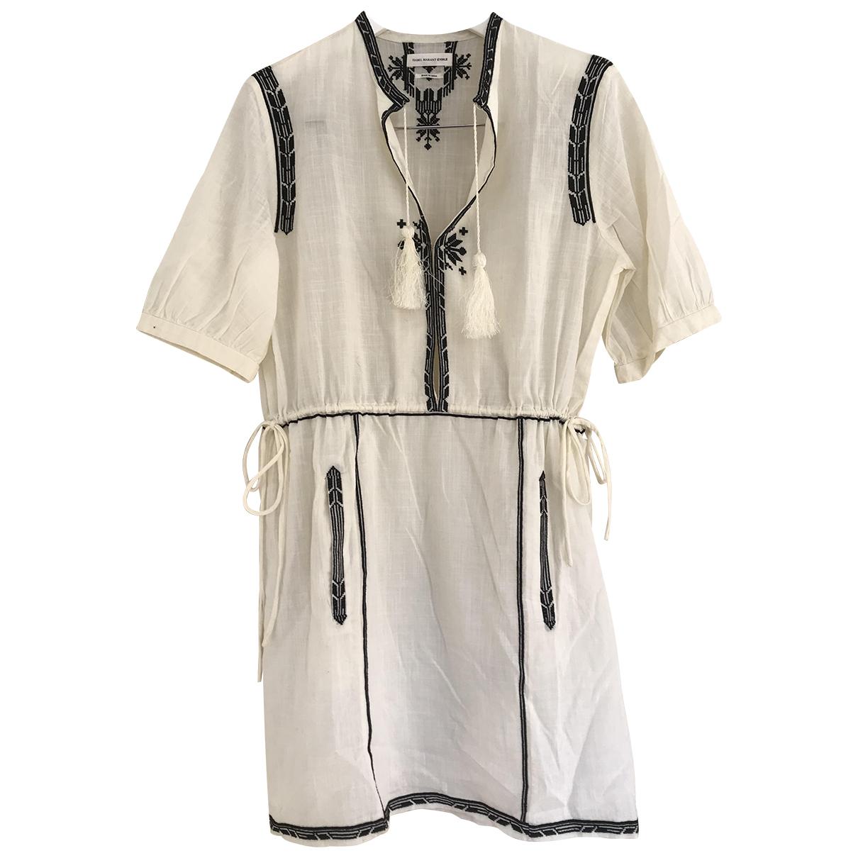 Isabel Marant Etoile \N Ecru Cotton dress for Women 36 FR