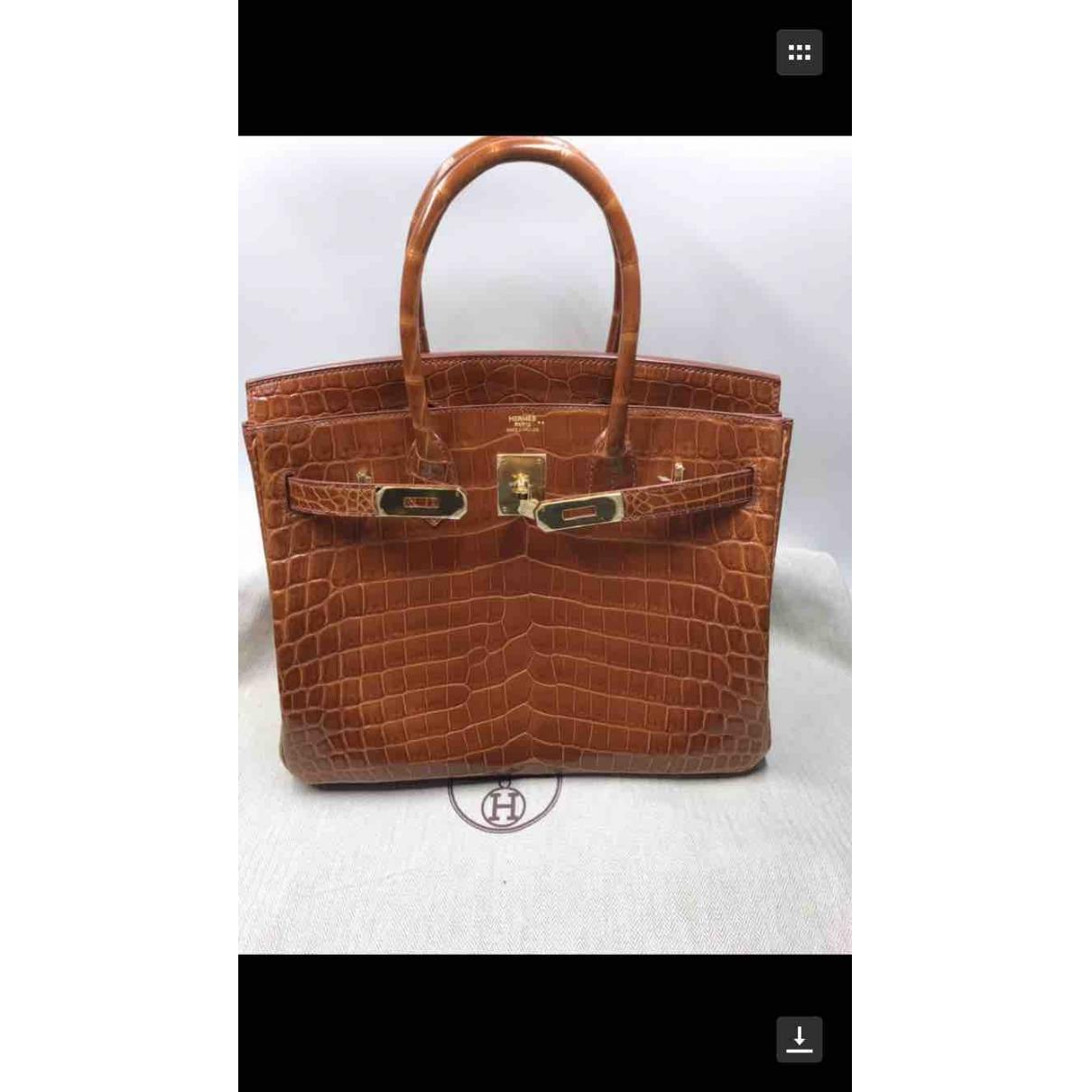 Hermès \N Brown Crocodile handbag for Women \N