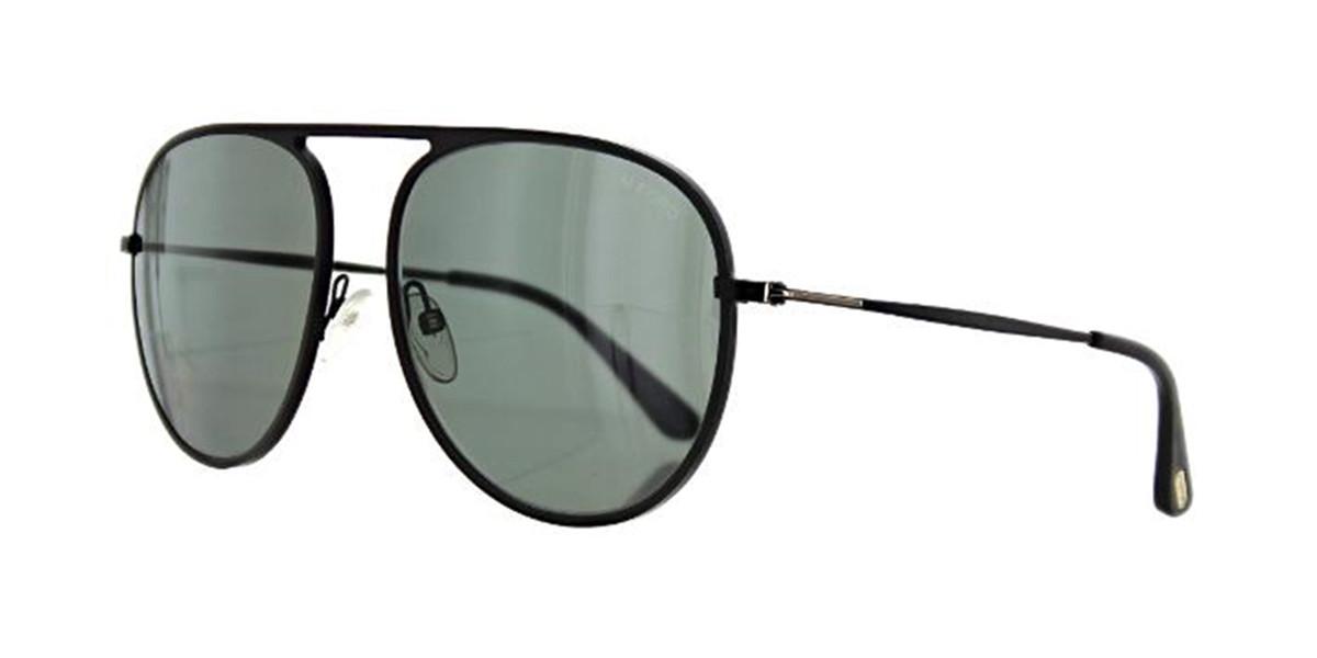 Tom Ford TF0621 Polarized 05D Mens Sunglasses Black Size 59