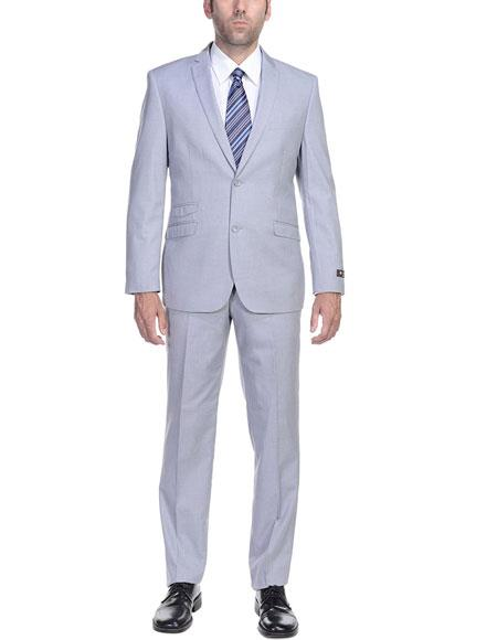 Mens Ticket Pocket Mens Slim Fit 2 Piece Single Breasted 2 Button Suit