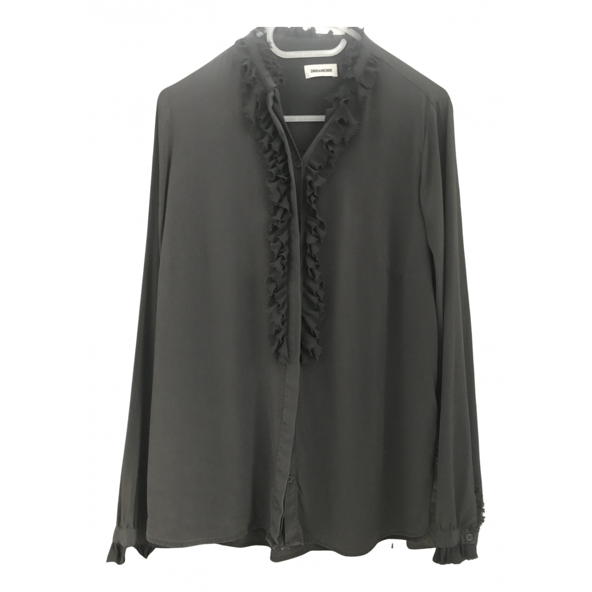 Zadig & Voltaire - Top   pour femme en soie - gris