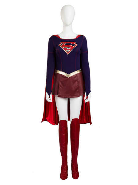 Milanoo Halloween Supergirl Kara Danvers Halloween Cosplay Costume