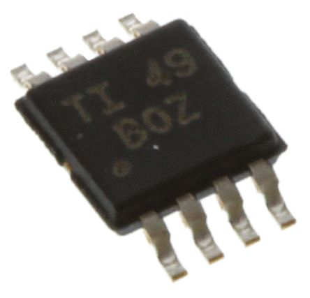 Texas Instruments XTR117AIDGKT , 4 → 20 mA Current Loop Transmitter 5V 380kHz 8-Pin MSOP