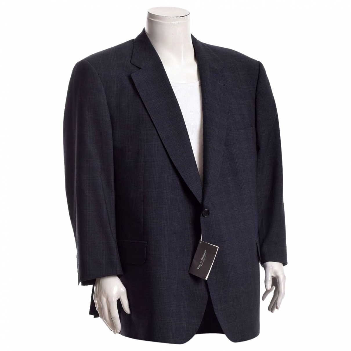 Non Signé / Unsigned \N Navy Wool jacket  for Men XXL International