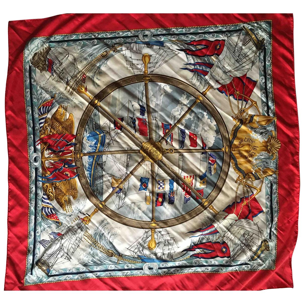 Hermes - Carre   pour femme en soie - multicolore