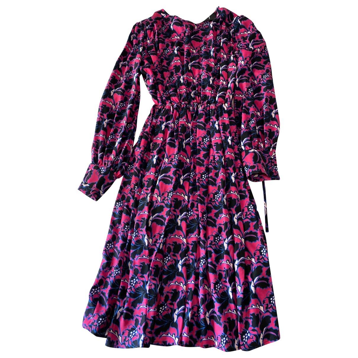 Msgm - Robe   pour femme en soie - multicolore
