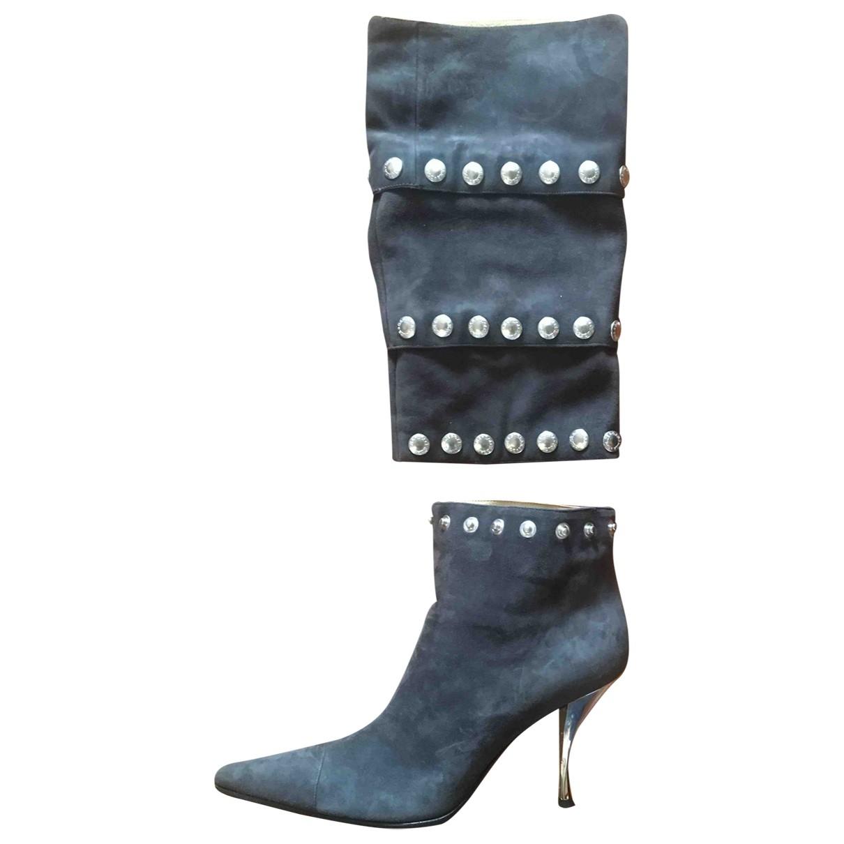 Dolce & Gabbana - Bottes   pour femme en suede - anthracite
