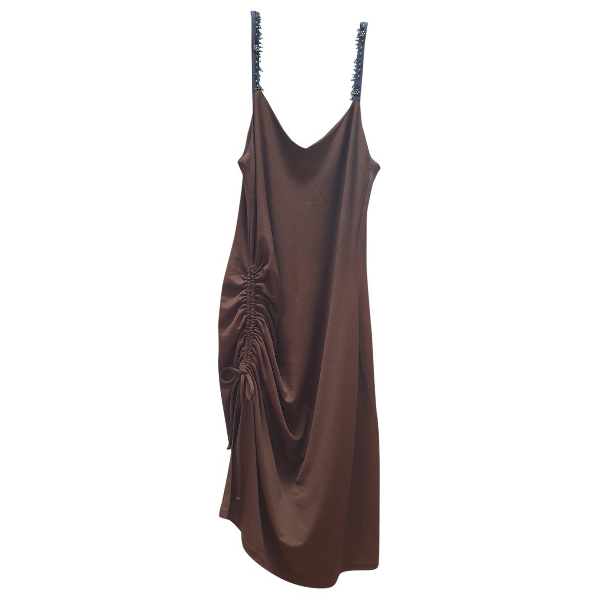 Blumarine \N Kleid in  Braun Synthetik