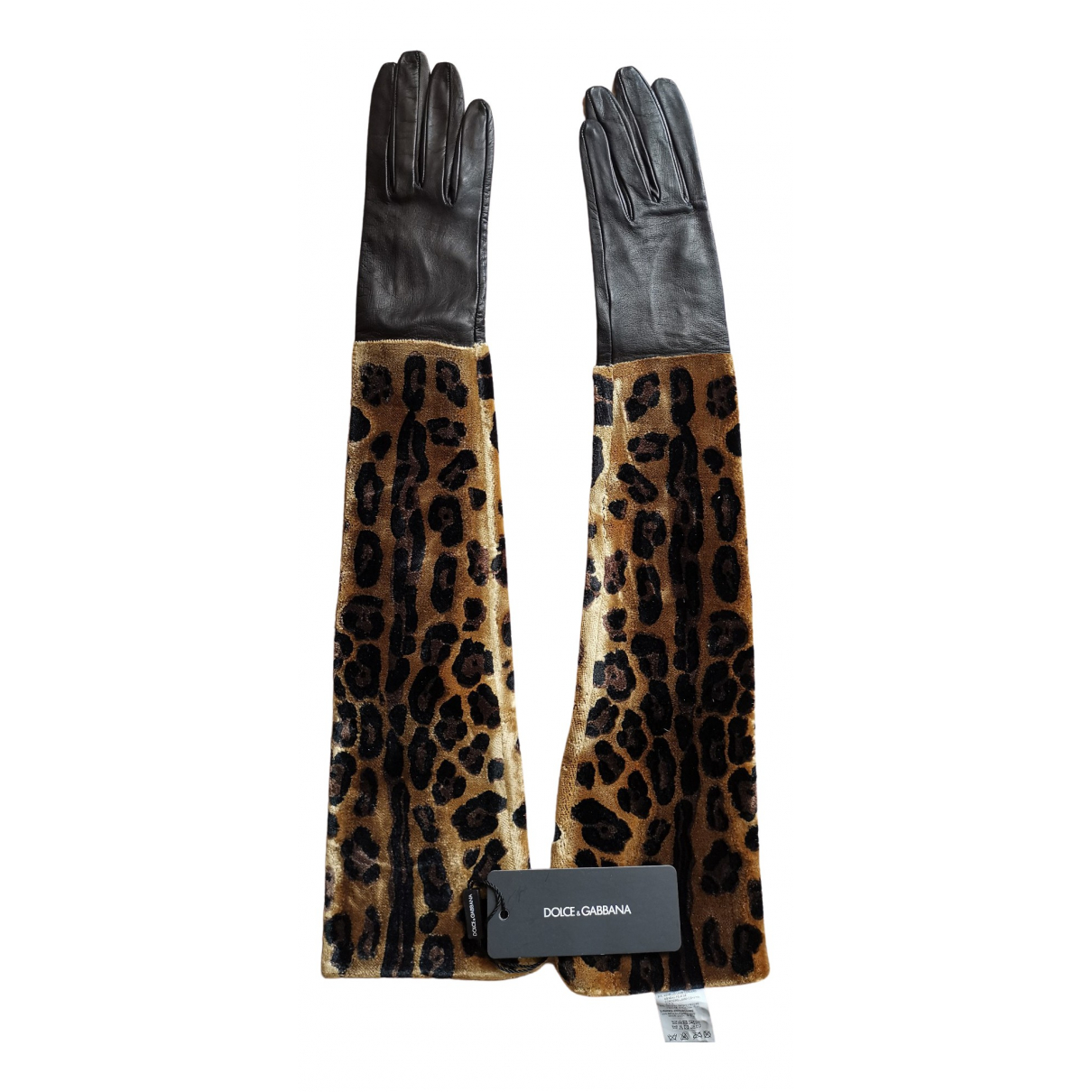 Guantes largos de Cuero Dolce & Gabbana