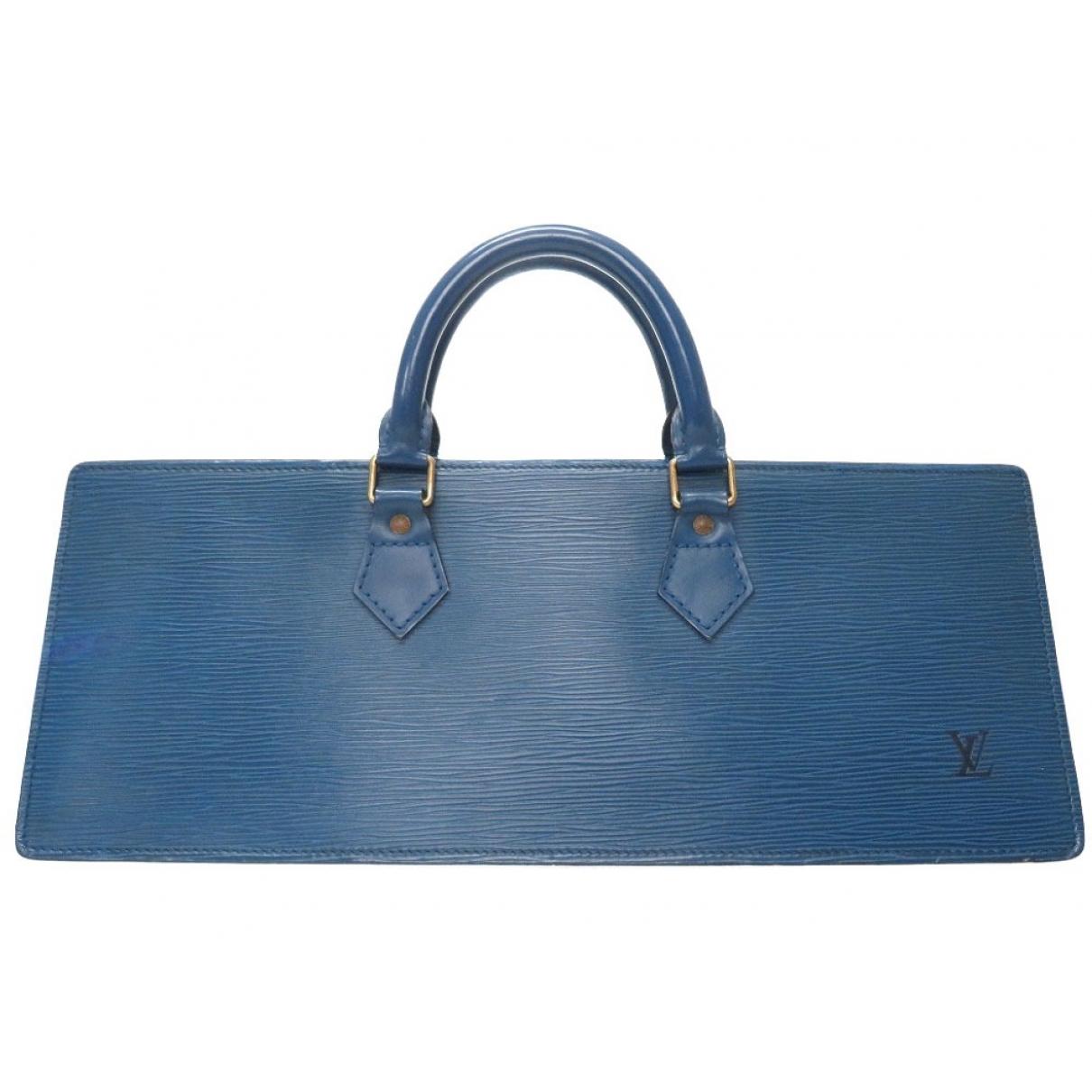 Louis Vuitton - Sac a main Triangle pour femme en cuir - bleu