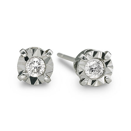 1/5 CT. T.W. Diamond Stud Earrings 10K White Gold, One Size , Yellow