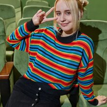 Rainbow Striped Pattern Sweater