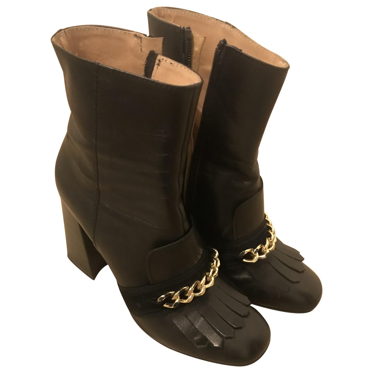 Liu.jo - Boots   pour femme en cuir - noir