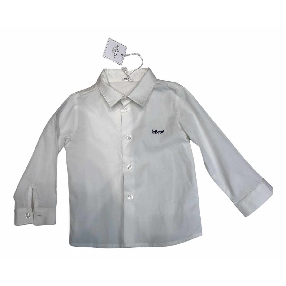 Le Bebe - Top   pour enfant en coton - blanc