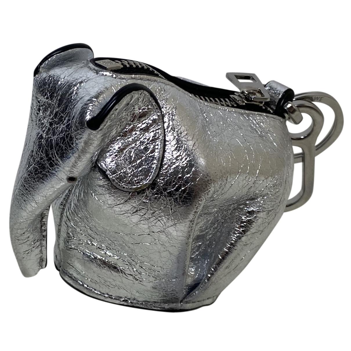 Loewe Animals Kleinlederwaren in  Metallic Leder