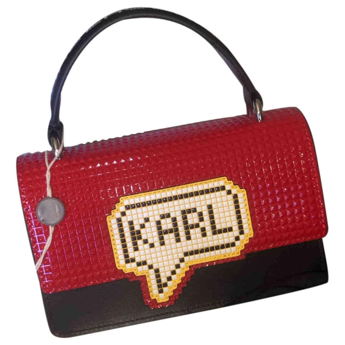 Karl \N Handtasche in  Rot Exotenleder