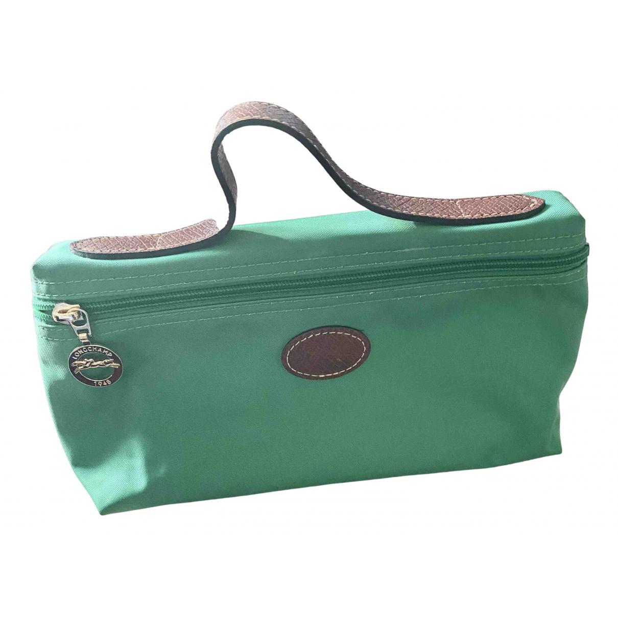 Longchamp \N Green Cloth Purses, wallet & cases for Women \N