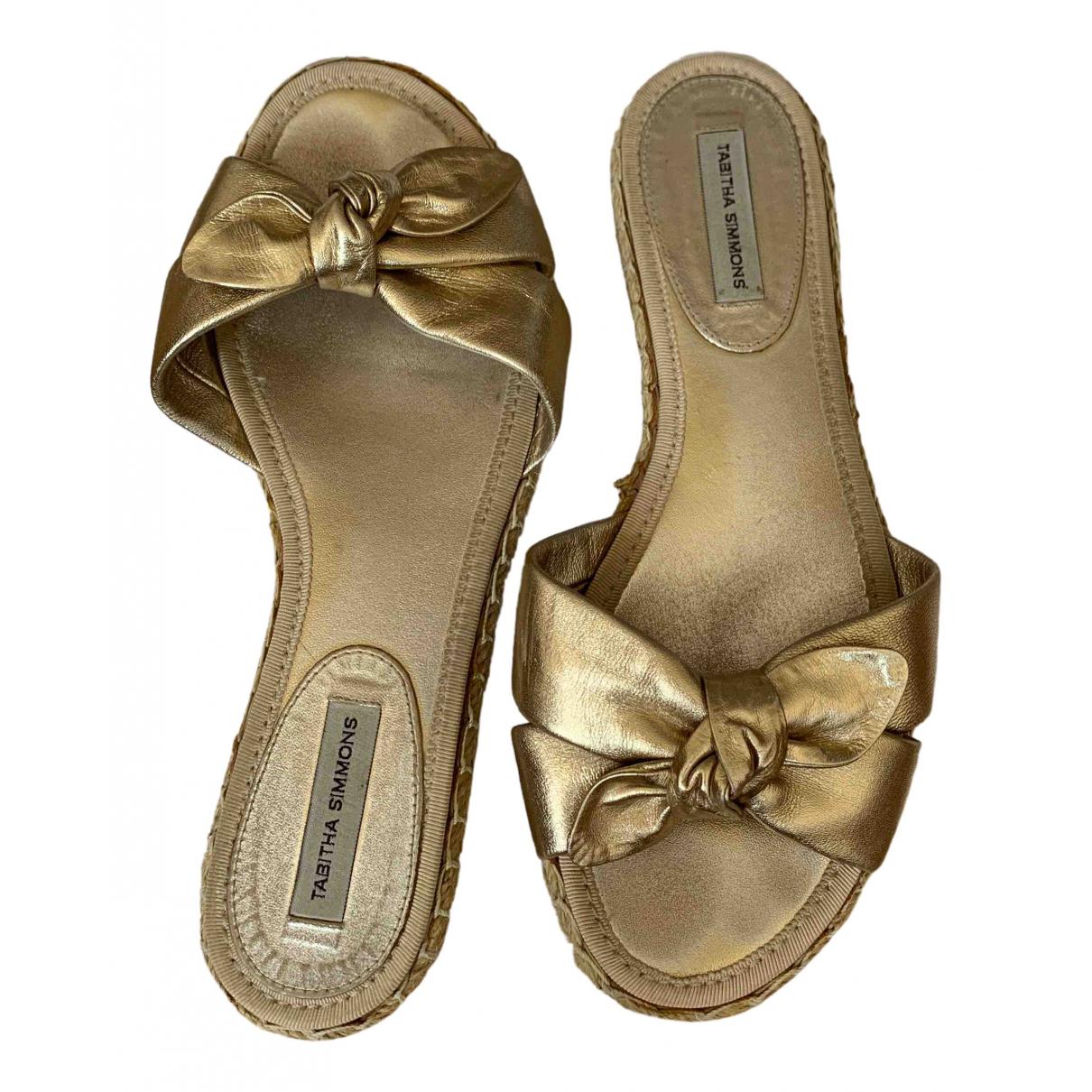 Tabitha Simmons \N Sandalen in  Gold Leder