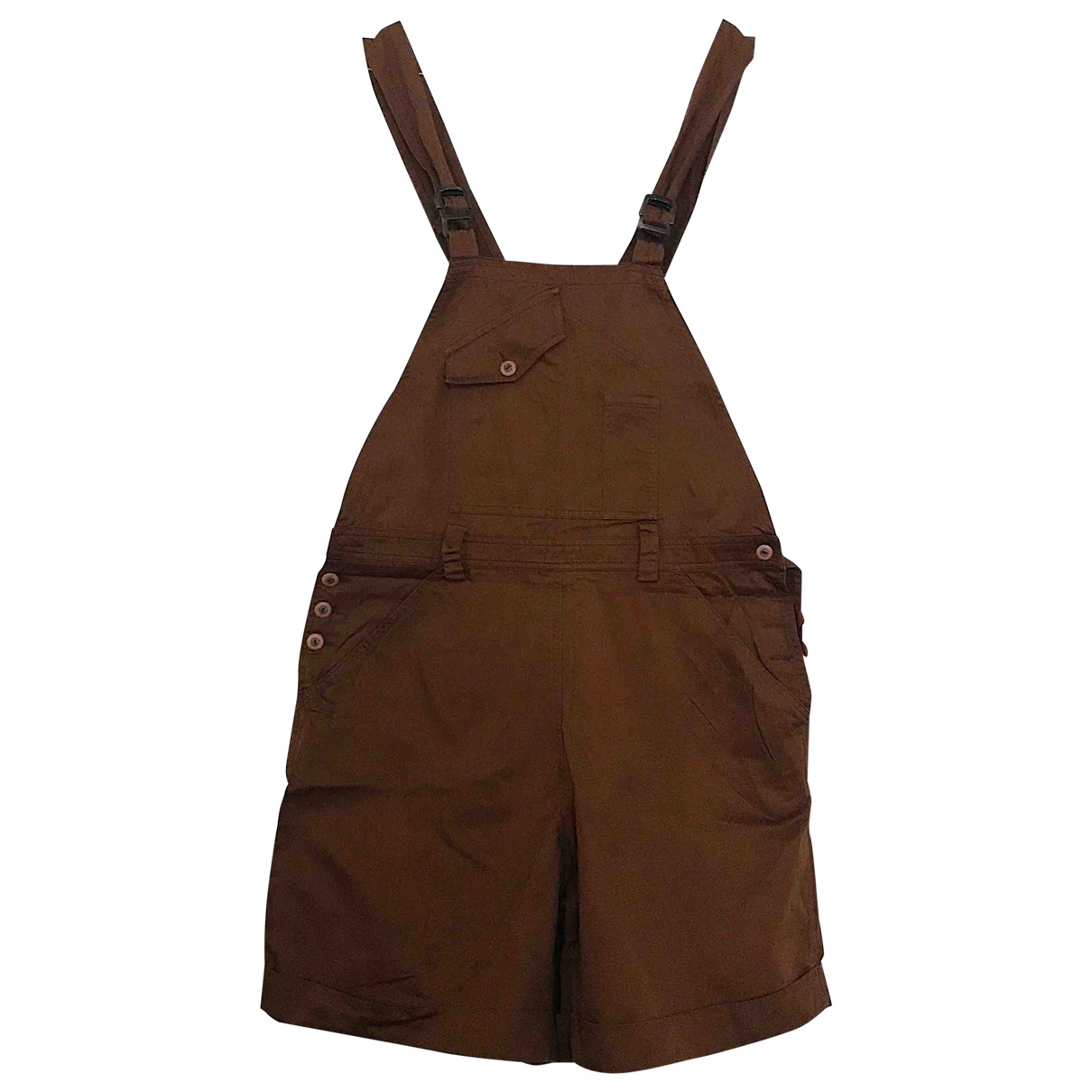 Max & Co \N Brown Cotton jumpsuit for Women 44 IT