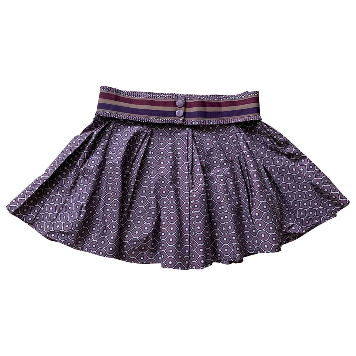 - Jupe   pour femme en coton - violet