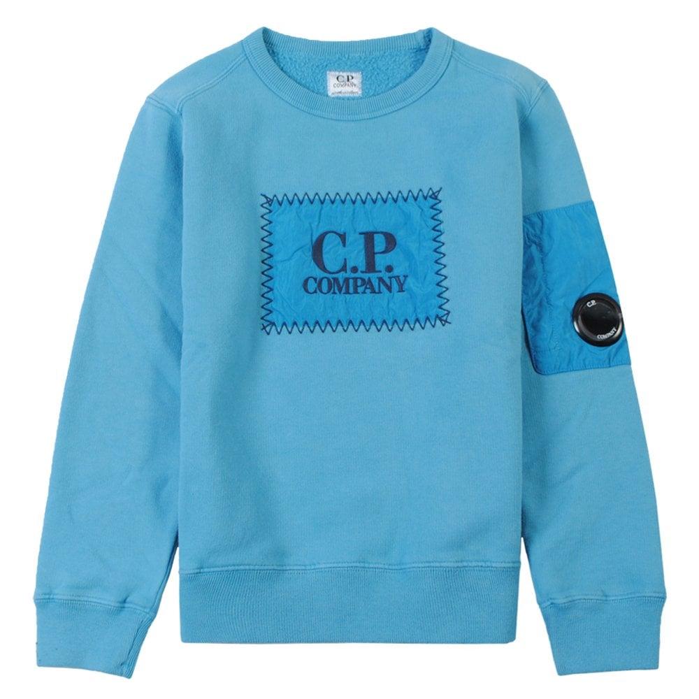 C.p. Company C.P Company Logo Patch Sweatshirt Colour: BLUE, Size: 8 YEARS