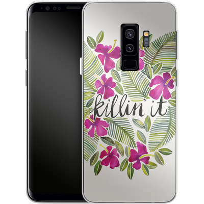 Samsung Galaxy S9 Plus Silikon Handyhuelle - Killin It Pink von Cat Coquillette