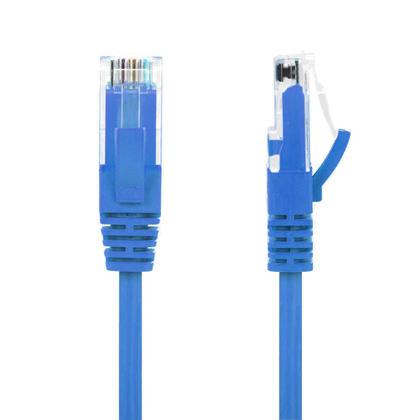 GoSlim Cat6 UTP 28AWG câble mince réseau Ethernet Bleu - PrimeCables® - 0,5pi