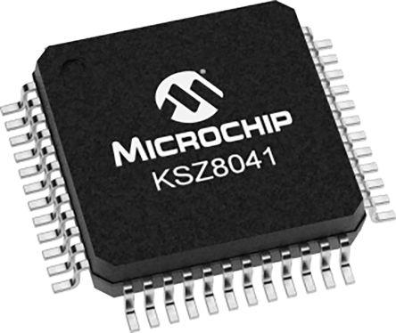 Microchip Technology KSZ8041TL Ethernet Transceiver, 3.3 V, 48-Pin TQFP (250)