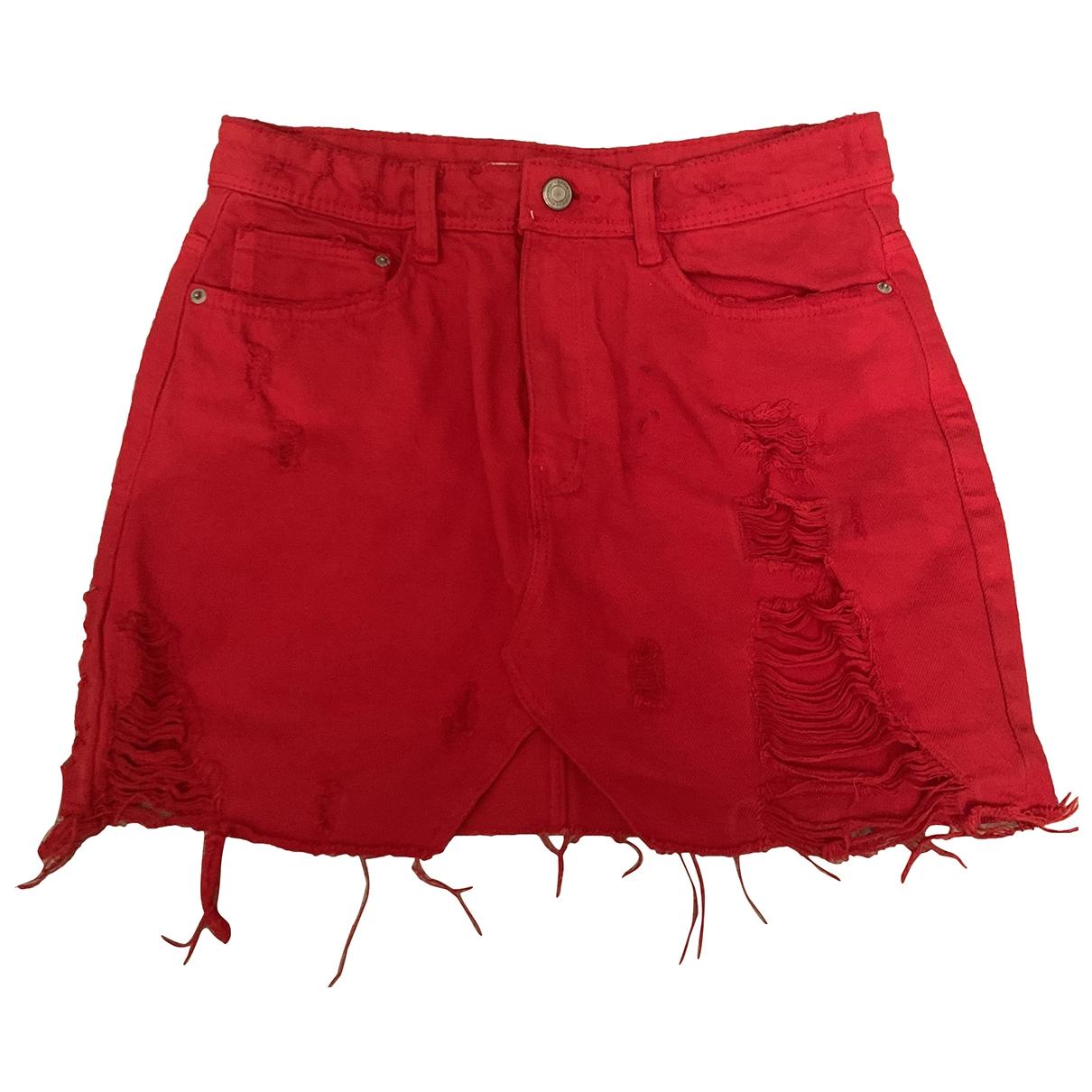 Zara \N Rocke in  Rot Denim - Jeans