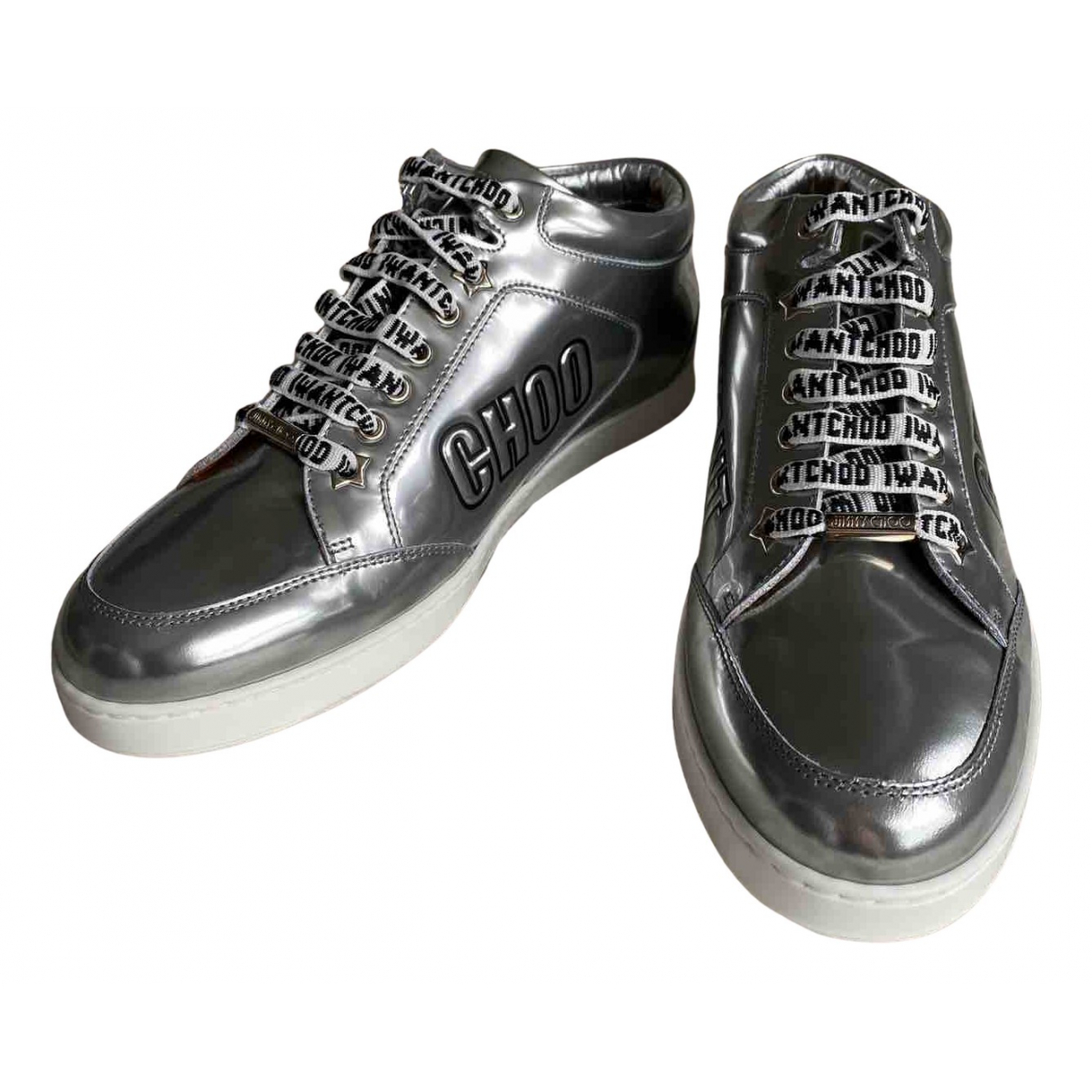 Jimmy Choo N Silver Leather Trainers for Women 40 EU