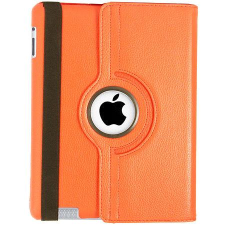 Natico Faux Leather 360° Degree Rotating Case for iPad, One Size , Orange