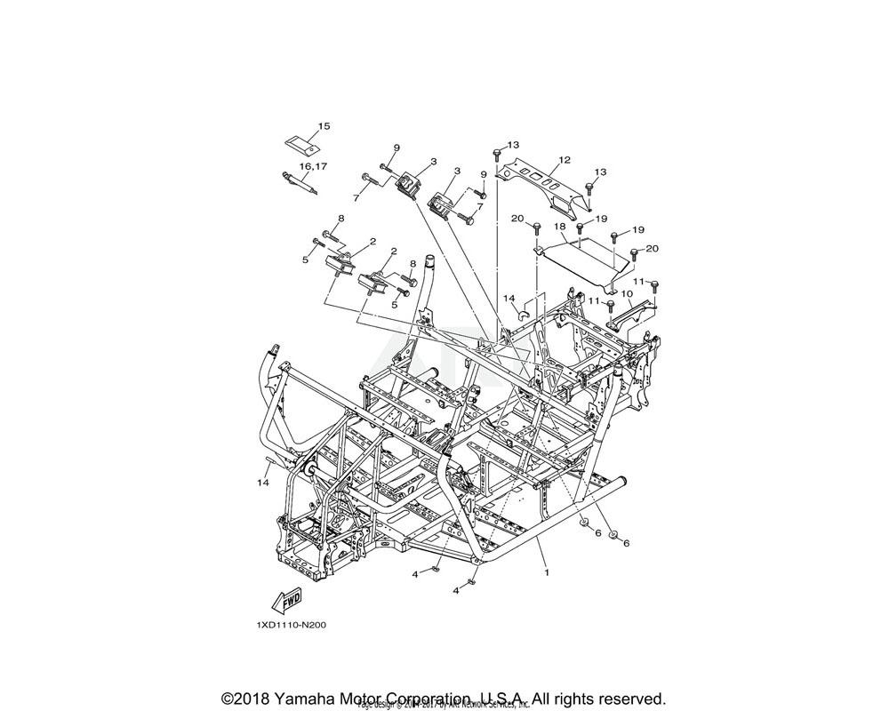 Yamaha OEM 1XD-F2898-00-00 INSULATOR, HEAT