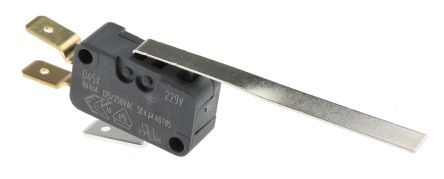 ZF SPDT-NO/NC Long Leaf Lever Microswitch, 16 A @ 250 V ac (5)