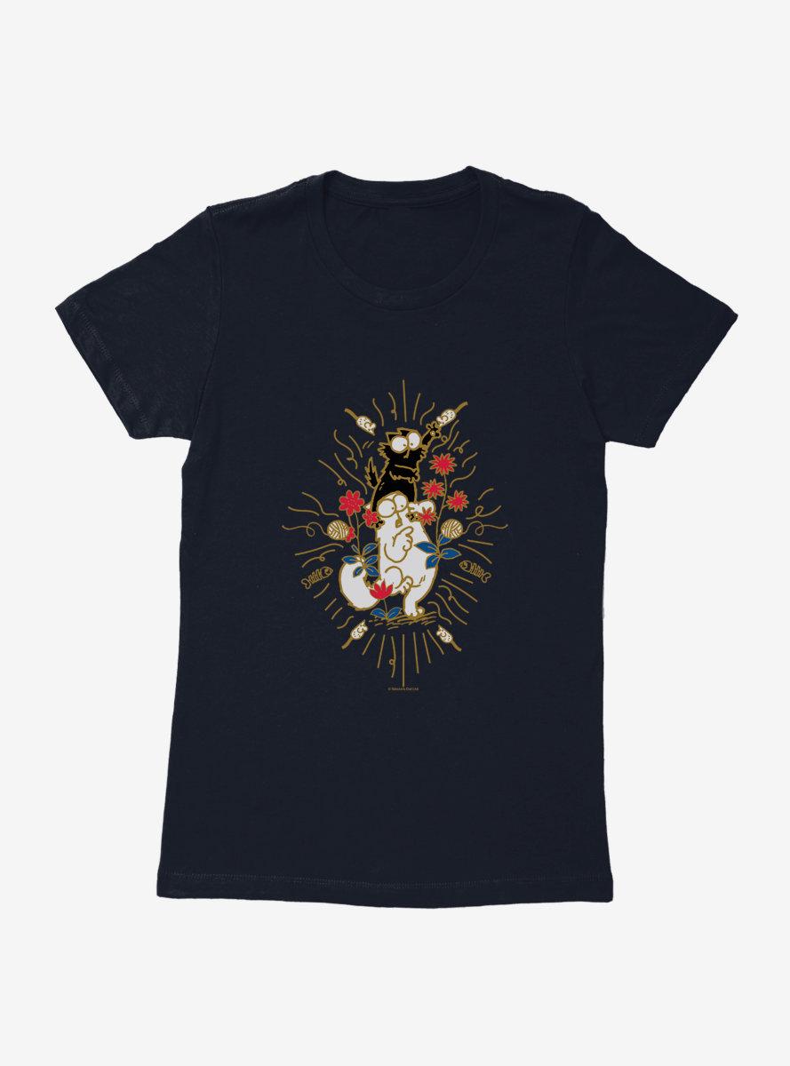 Simon's Cat Fighting Cats Womens T-Shirt