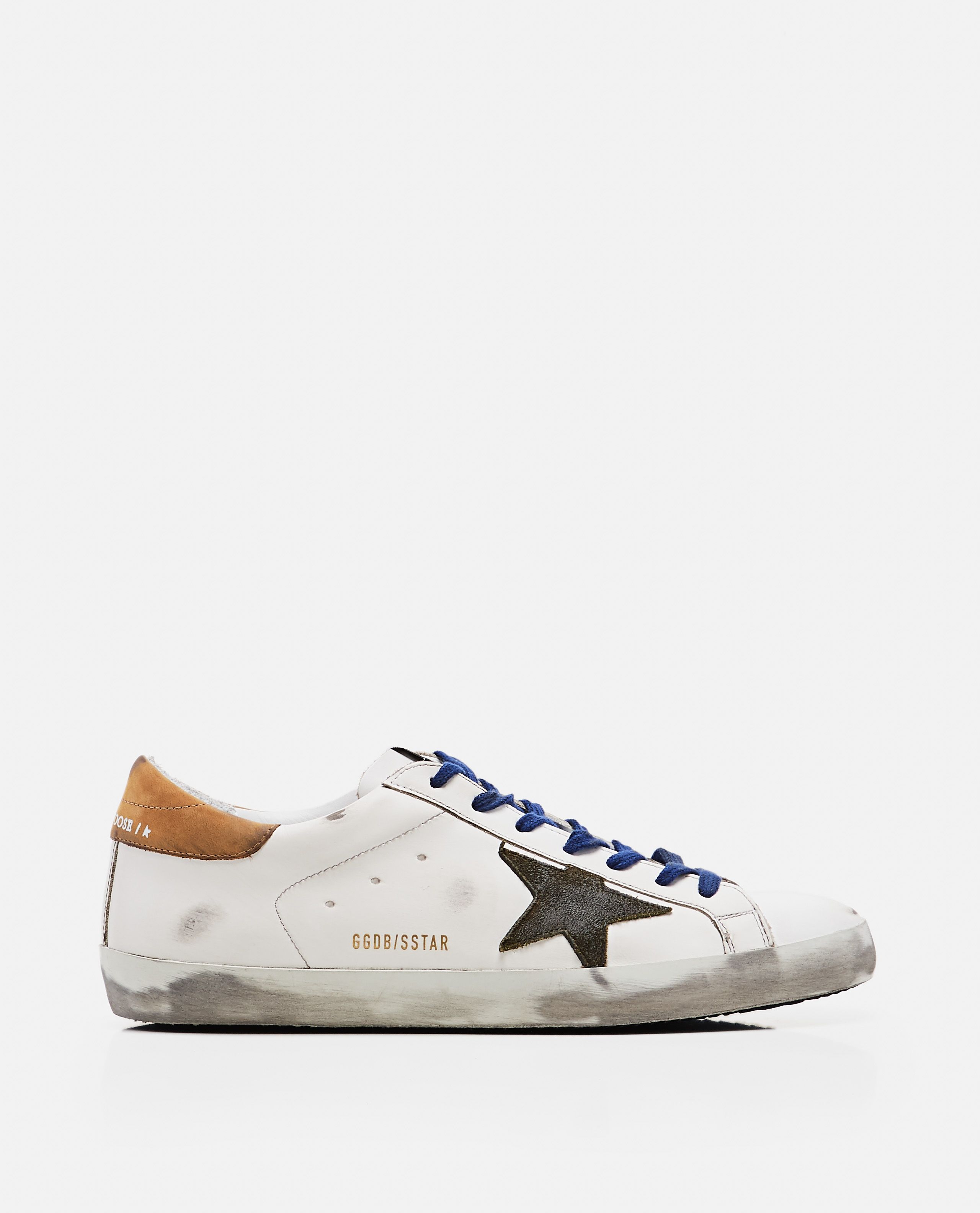 Superstar sneakers in leather and suede