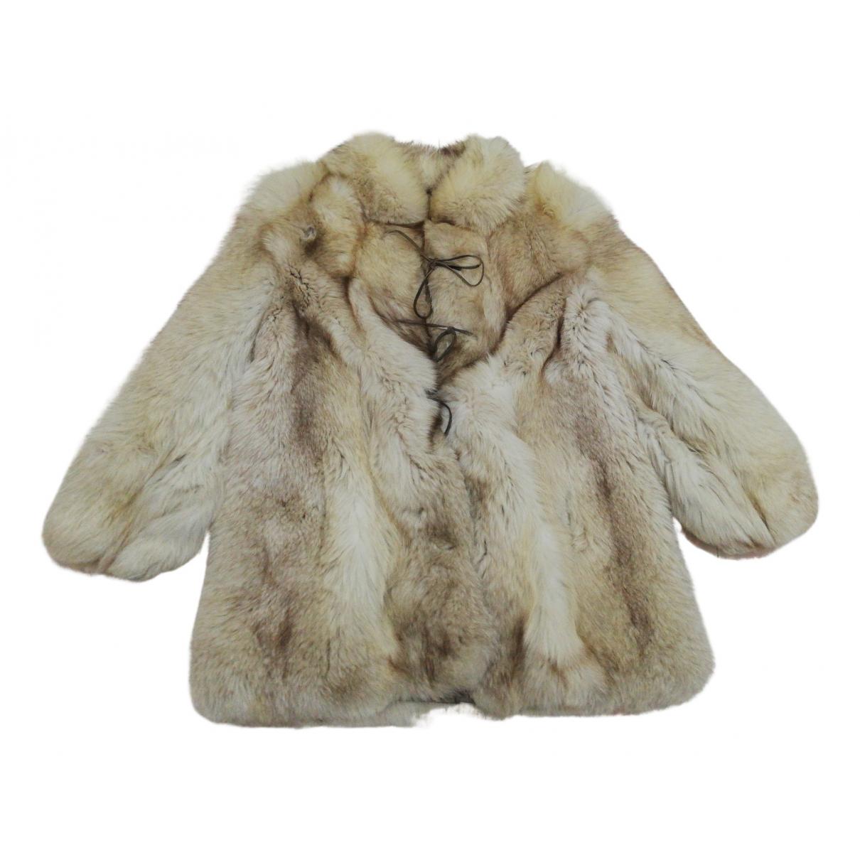 - Manteau   pour femme en renard - multicolore
