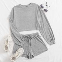Outfit de dos piezas Canale Liso Gris Claro Casual