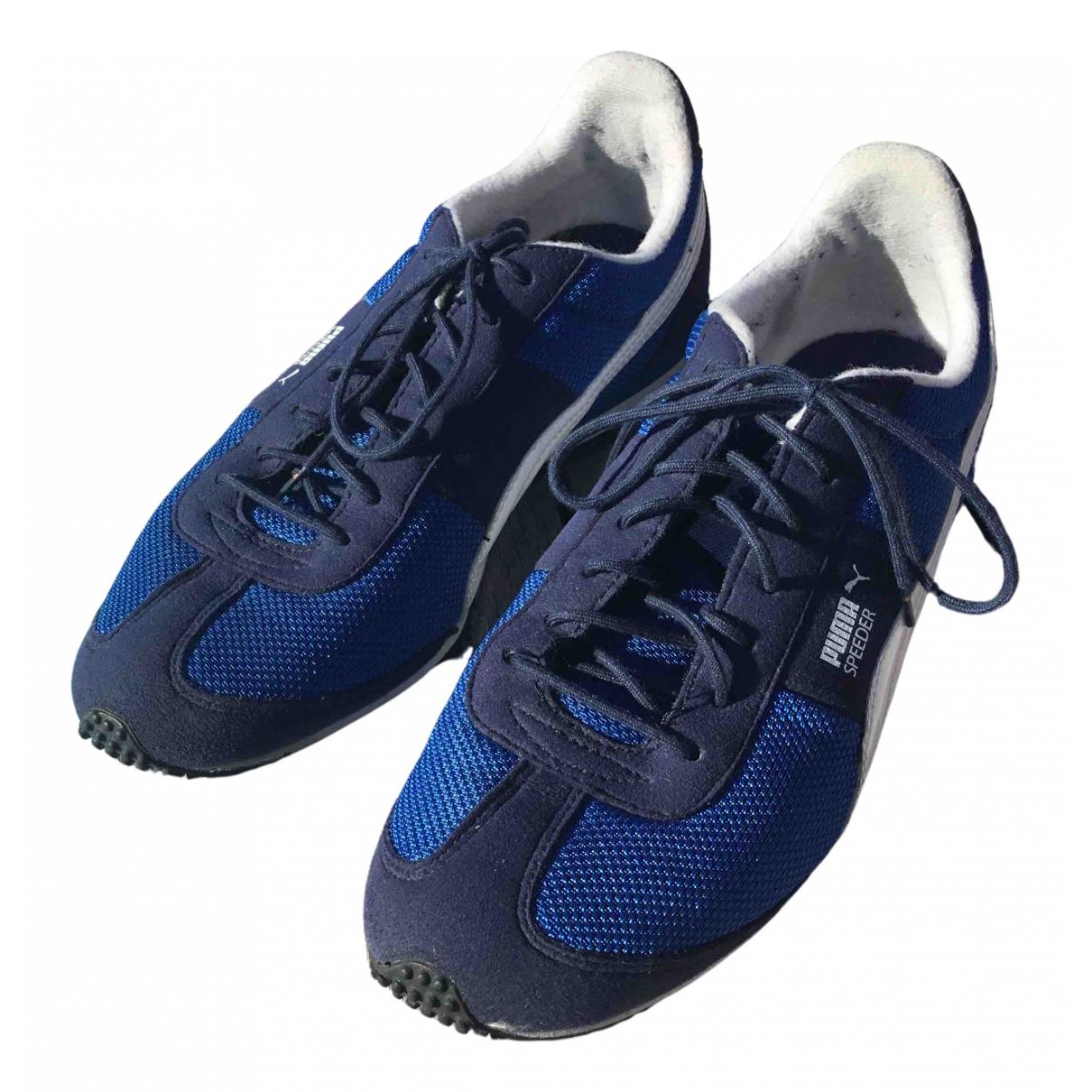 Puma \N Sneakers in  Blau Leinen