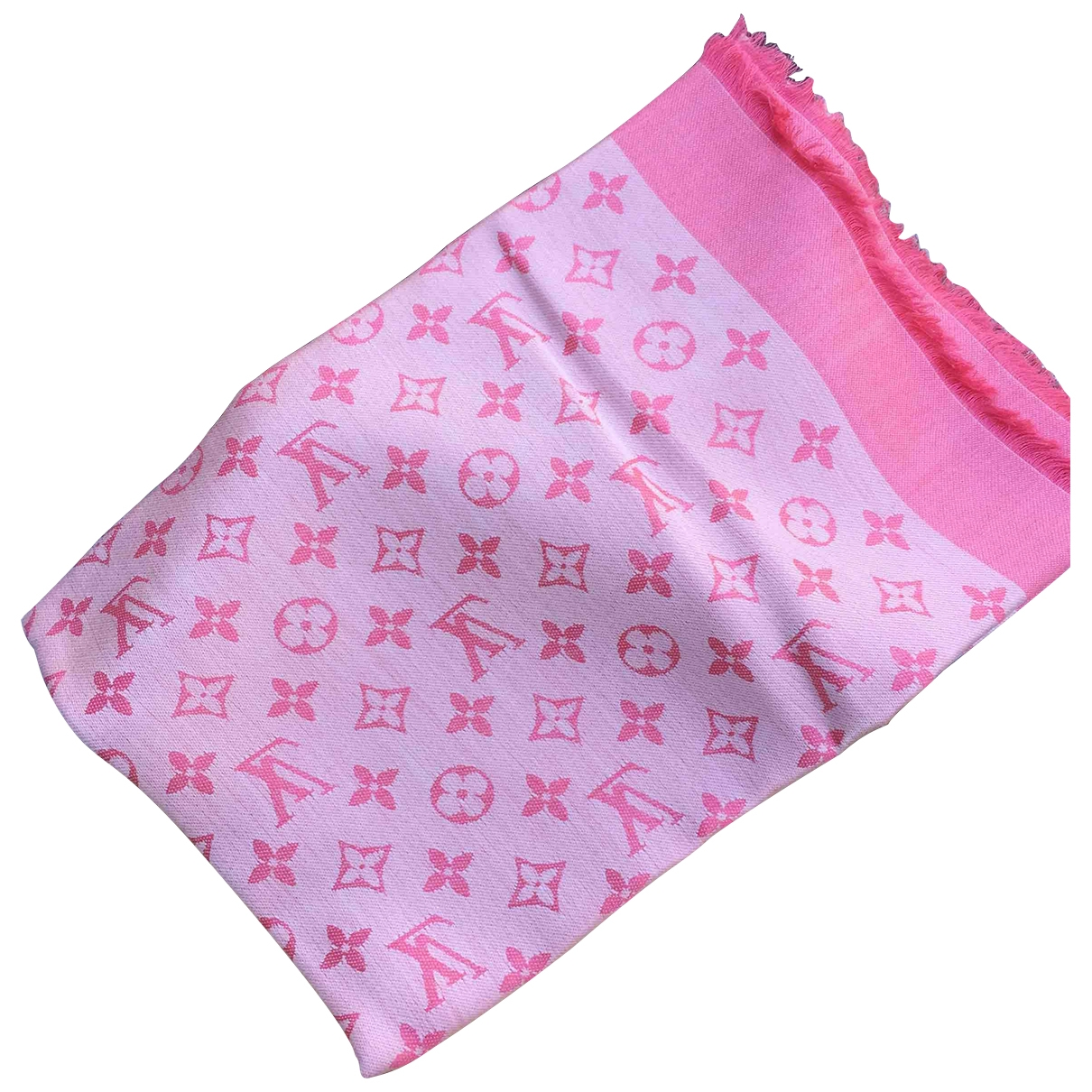 Louis Vuitton Chale Monogram shine Schal in  Rosa Seide