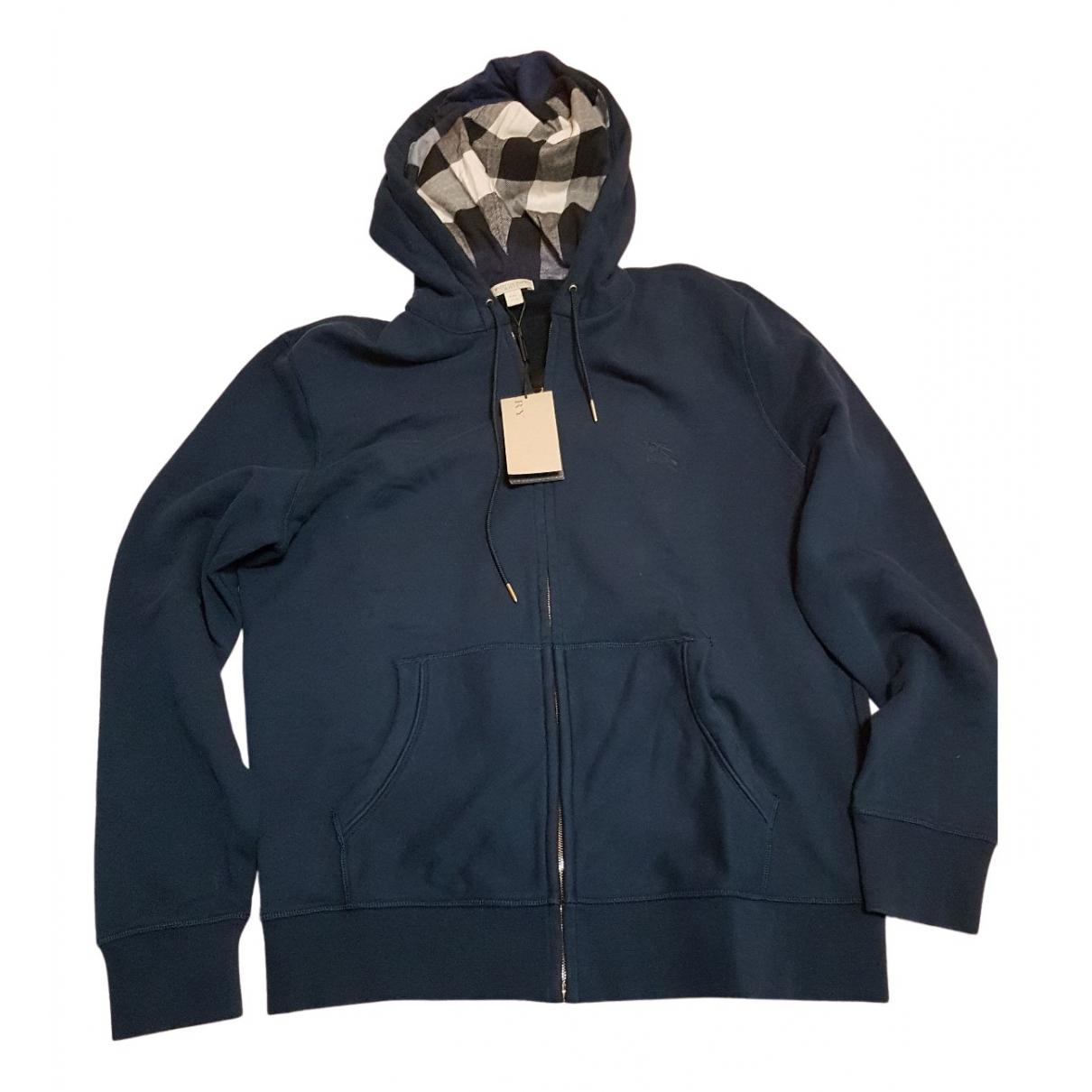 Burberry \N Pullover.Westen.Sweatshirts  in  Blau Baumwolle