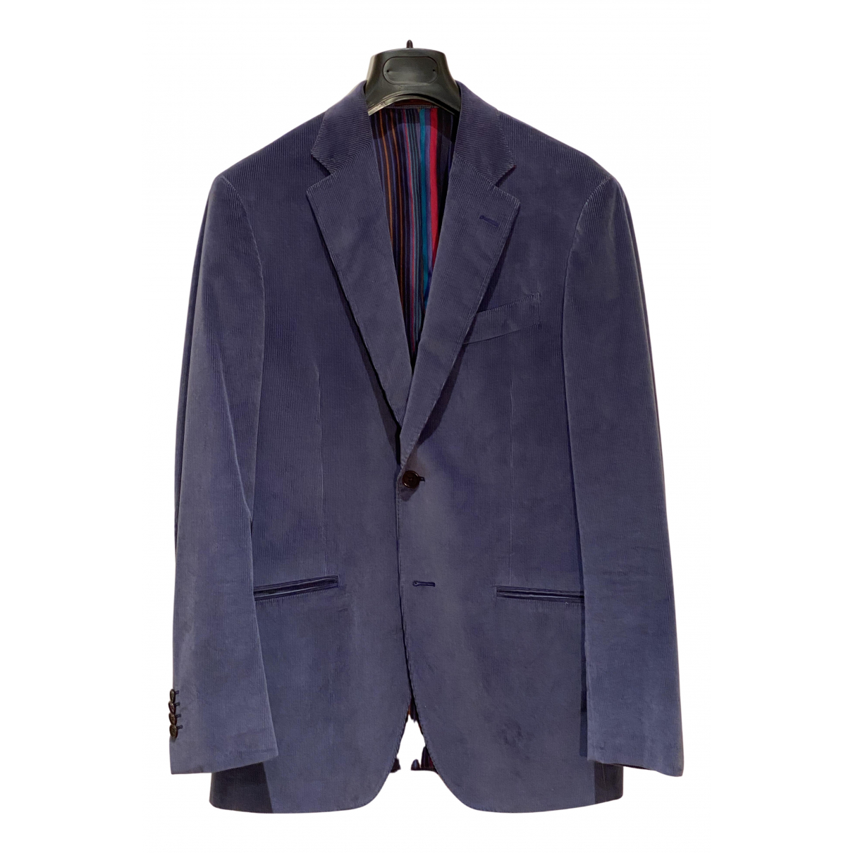 Etro N Purple Velvet jacket  for Men 46 IT