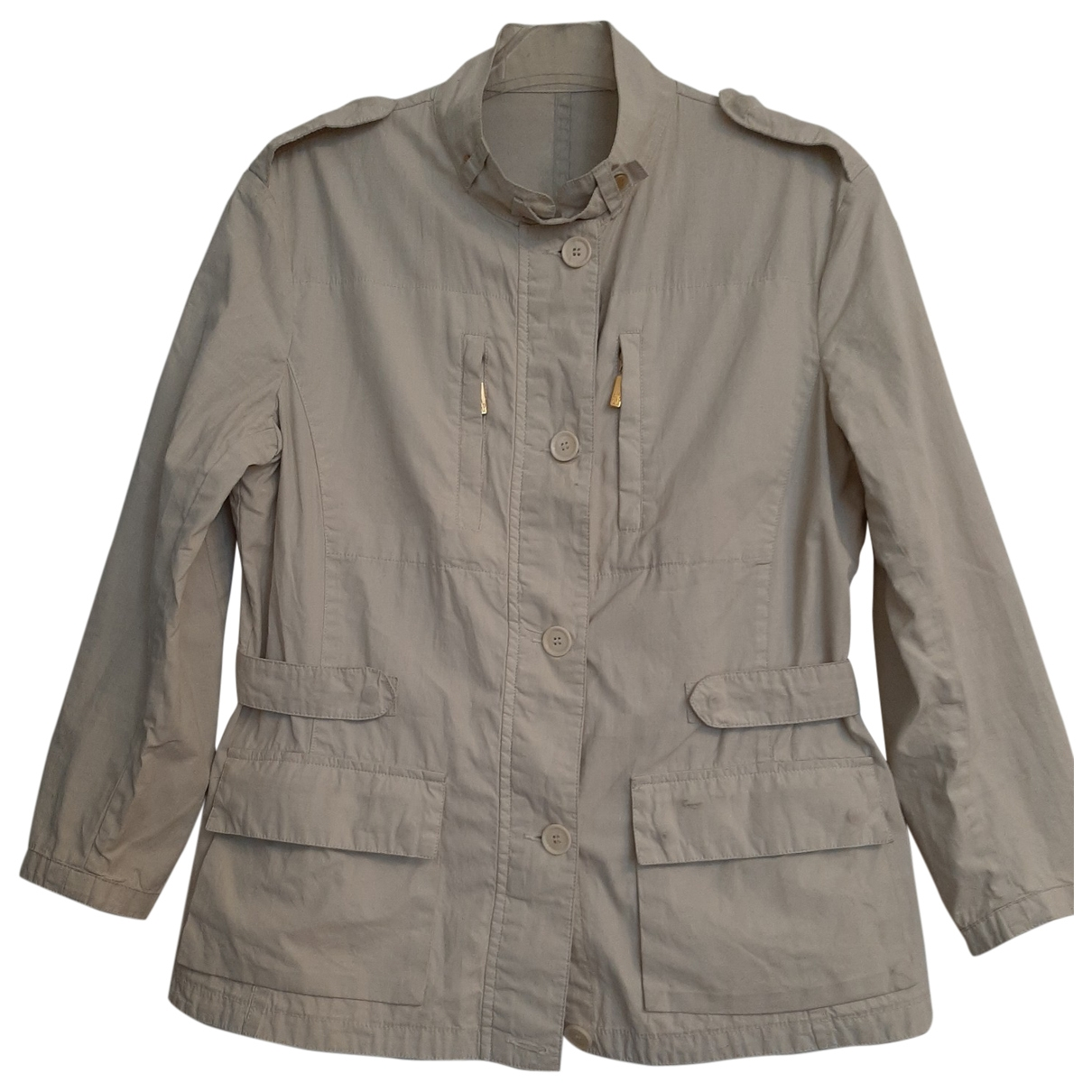 Moncler - Veste   pour femme en coton - beige
