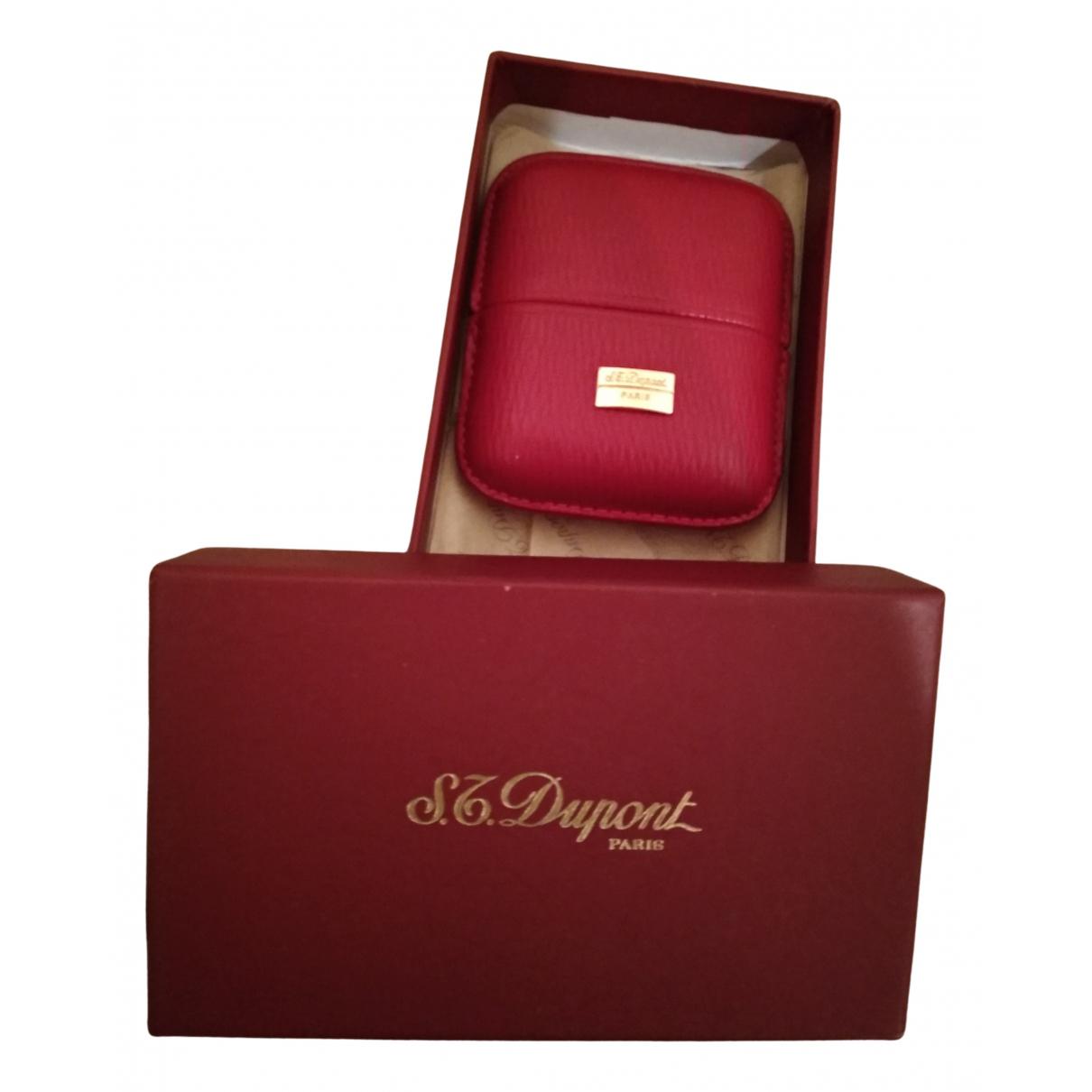 S.t. Dupont - Petite maroquinerie   pour femme en cuir - rouge