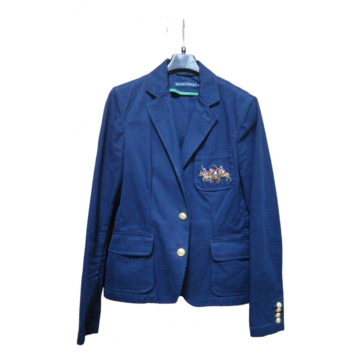 Ralph Lauren \N Blue Cotton jacket for Women 8 UK